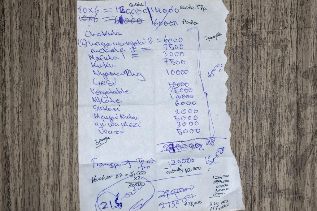 Budget in Tz Shillings