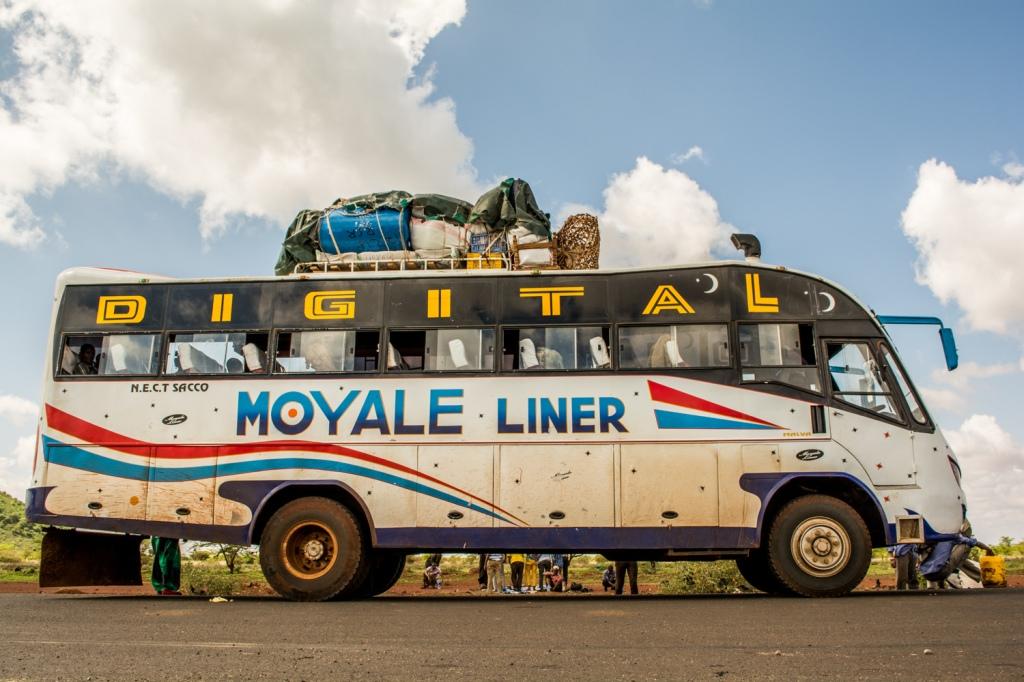 Moyale Liner at a prayer stop heading north from Nairobi.