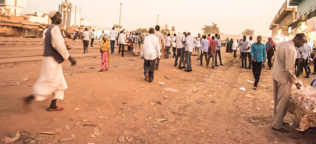 A section of Souq Arabi ( Arabi Market )in Khartoum