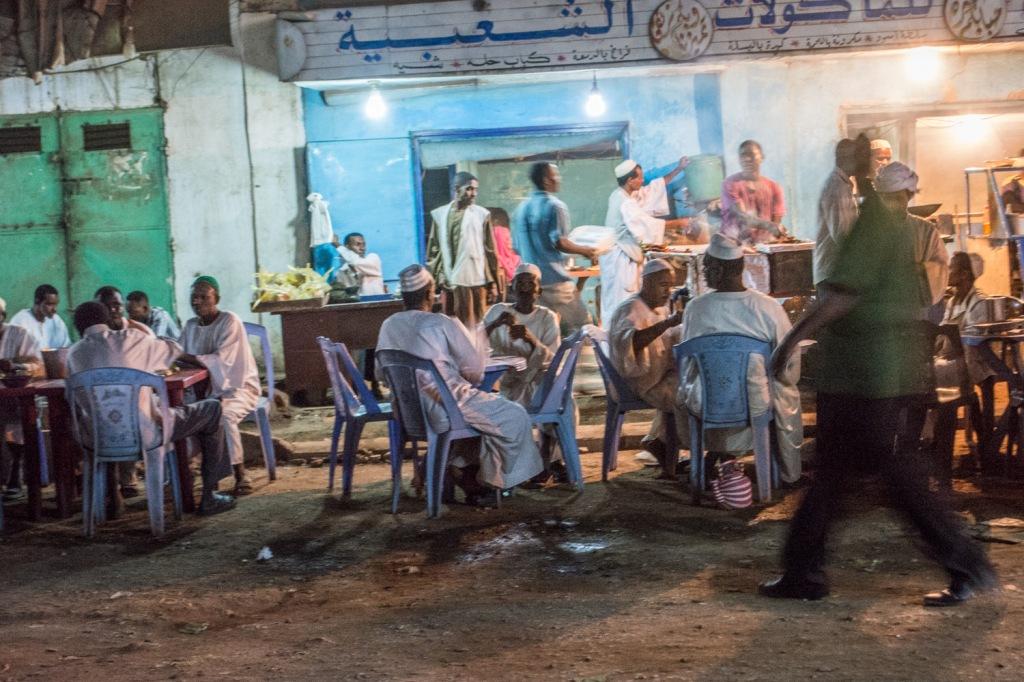 A cafe/restaurant in the Khartoum